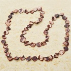 Long Natural Mother of Pearl Necklace (Brown)