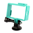 PANNOVO Camera Protective Side Frame Case w/ Hot Shoe Interface for XIAOMI XIAOYI - Bluish Green