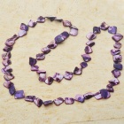Long Natural Mother of Pearl Necklace (Purple)