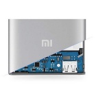 Xiaomi 5000mAh Mobile Power Source w/ USB Mini Fan - Silver + Blue