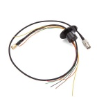 2A 240V SMA + BNC Plug 1080P HD Video Slip Ring - Black