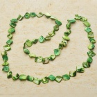 Long Natural Mother of Pearl Necklace (Green)