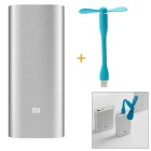 Xiaomi Universal 16000mAh Power Bank w/ Xiaomi USB Blue Fan - Silver