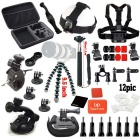 Basic Common Outdoor Sports Kit for GoPro Hero 4 / 3+ / 3 / 2 / 1 - Black