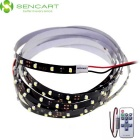 7.5W LED Strip Light White 90-3528 SMD 6000K + 11-Key RF Controller - Black + White (15m / DC 12V)