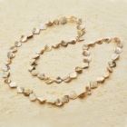 Long Natural Mother of Pearl Necklace (Ivory)