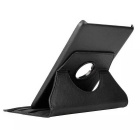 360° Rotary PU Full Body Case w/ Stand for Samsung T350 - Black