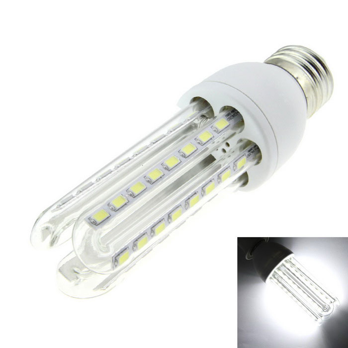 E27 12W Cold White 48-LED-3U Corn Light Energy-Saving Lamp (130~265V)