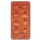 Cartoon Animals Style DIY 8-Capacity Food Cake / Chocolate Decorating Making Mold - Brown