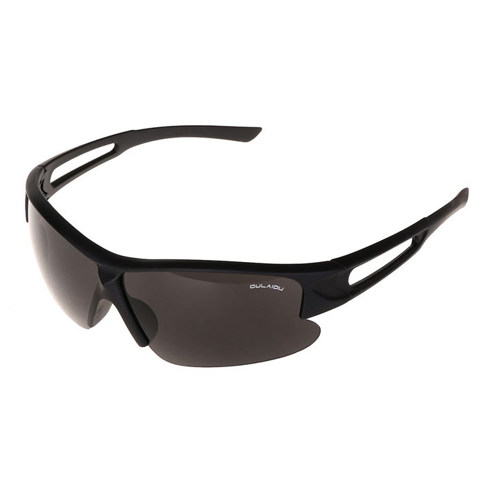 Fashion Clear Night Viewing Windproof UV400 Protection Outdoor Cycling Sunglasses - Black
