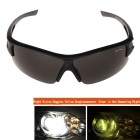 Night Viewing Windproof UV400 Protection Outdoor Sunglasses - Black