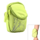 AKR Outdoor Sports Running Polyester Wrist Bag for IPHONE - Green