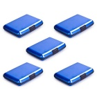 Accordion Style RF-Proof Credit Card / Bank Card / ID Card Storage Bags - Blue (5 PCS)