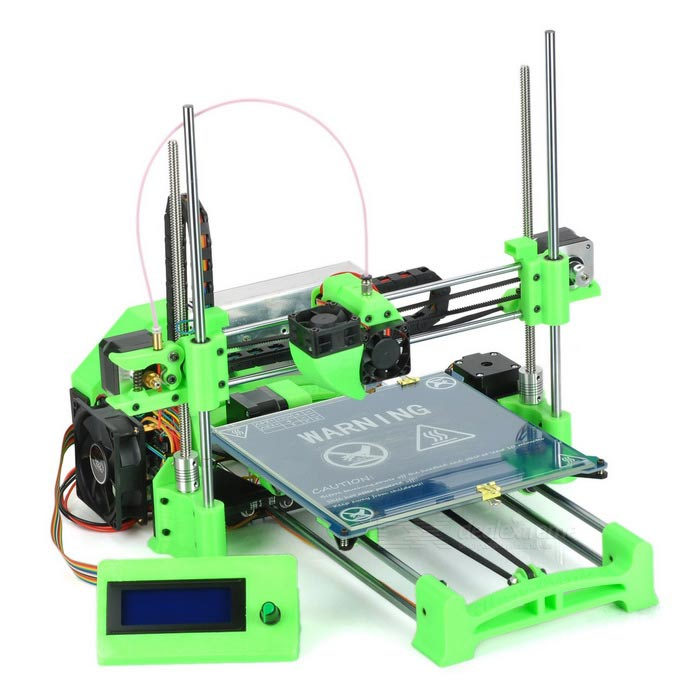 KunPrinter k86 Reprap Prusa Mendel I3 DIY Kits Desktop 3D Printer groen