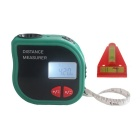 CPTCAM CP-3001 Handheld Ultrasonic Laser Rangefinder w/ Spirit Level & Flexible Rule - Black + Green