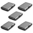 Accordion Style RF-Proof Credit Card / Bank Card / ID Card Storage Bags - Deep Grey (5 PCS)