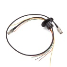 1080P Slip Ring 1 Circuit SDI + 6 Circuits Slip Ring Video Line Plug Type BNC