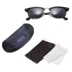 Reedoon Small Frame UV400 Polarized Sunglasses - Black + Silver