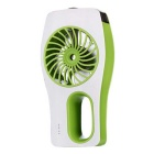 2015 Fashion USB Mini Hand-Held Fan Air Conditioner Handy Cooler - White + Green