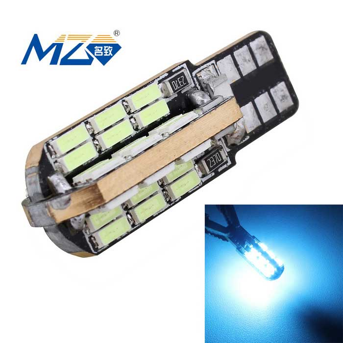 MZ T10 9.6W LED Ice Blue Decode Error-Free Canbus Car Clearance Lamp