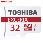 Genuine Toshiba Extreme 32GB U1 CLASS 10 Micro SD / TF Memory Card - White