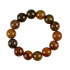 14mm Artificial Agate Beads Bracelet - Brown