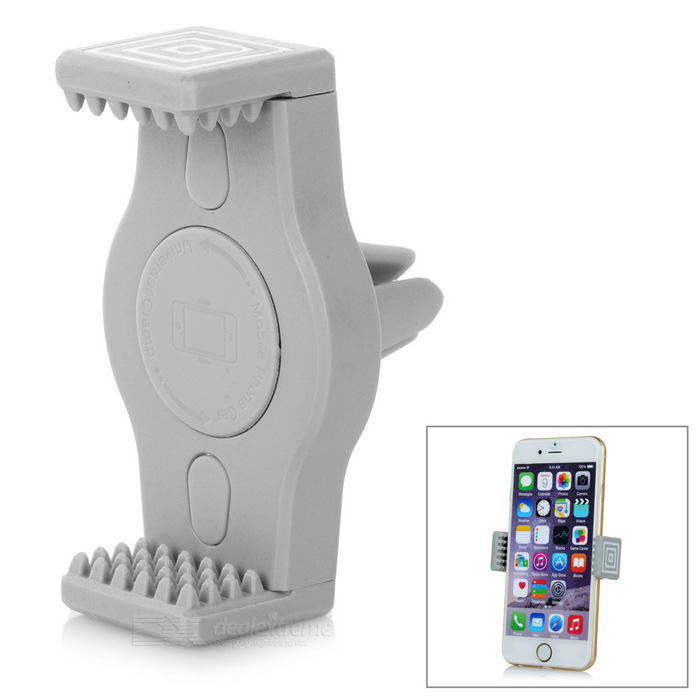 360' Rotating Car Air Outlet Mount Holder for Cellphone / GPS - Grey