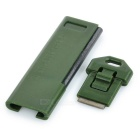 Camping / Travel Ultrathin Fire Lighting Flint w/ Whistle - Army Green