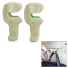 Car Vehicle Seat Headrest Mounted Hanging Hook Hanger for Shopping Bag / Coat - Oyster Grey (2pcs)