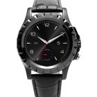 "NO.1 SUN S2 1.22"" IPS Waterproof Bluetooth Smart Watch w/ Heart Rate, Pedometer, 300KP Cam - Black"