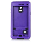 Protective Waterproof PC Case for Samsung Galaxy Note 4 - Purple