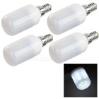 E14 240lm 7000K 24-SMD 5730 LED White Light Bulb (4 PCS / AC 220~240V)