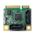 Mini PCI-E to SATA 3 Expansion Card for Hard Drive - Green