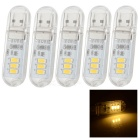 1.2W 60lm 3-LED Warm White Light Night Lamp w/ Touch Switch (5 PCS / DC 5V)