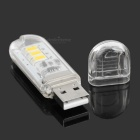 1.2W 60lm 3-LED Warm White Night Lamp w/ Touch Switch - White (5PCS)