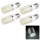 E27 4W LED Corn Lamps White Light 6500K 350lm 36-SMD 5050 - White + Black (AC 85~265V / 4 PCS)
