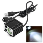 XM-L T6 LED Rechargeable Bike Light Cool White 3-Mode 300lm - Black