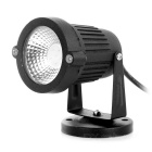 3W COB LED Spotlight / Lawn Lamp Blue Light 20lm - Black (85~265V)