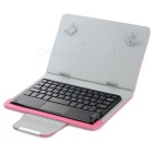 "Bluetooth Keyboard w/ PU Cover for 7~8"" Tablet - Deep Pink + Black"
