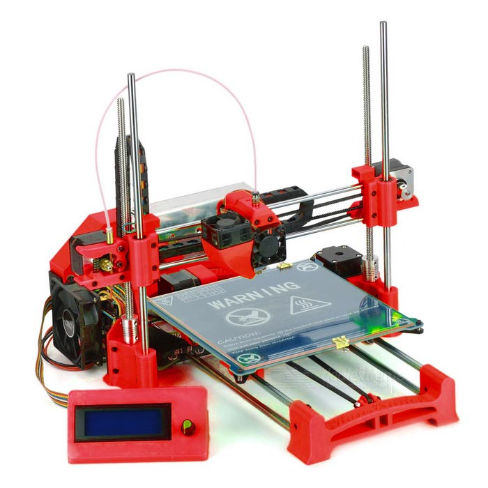 3D-Printer KunPrinter k86 Reprap Prusa Mendel I3 DIY Kits Desktop 3D Printer Red