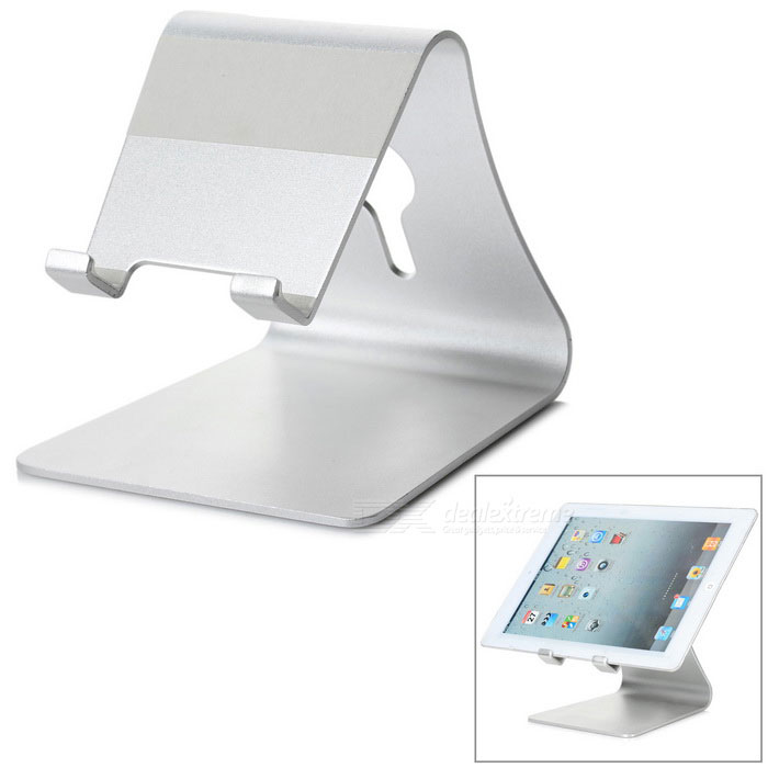 Desktop Mount Holder Stand for CellPhone / Tablet PC - SilverMounts and Stands<br>Form  ColorSilverMaterialAluminum alloyQuantity1 DX.PCM.Model.AttributeModel.UnitCompatible SizeOthers,UniversalMount TypeDesktopMax. Load0.5 DX.PCM.Model.AttributeModel.UnitAdjustable HeightUnadjustableRotation DegreeUnadjustable DX.PCM.Model.AttributeModel.UnitAdjustable Width:UnadjustablePacking List1 x Holder<br>