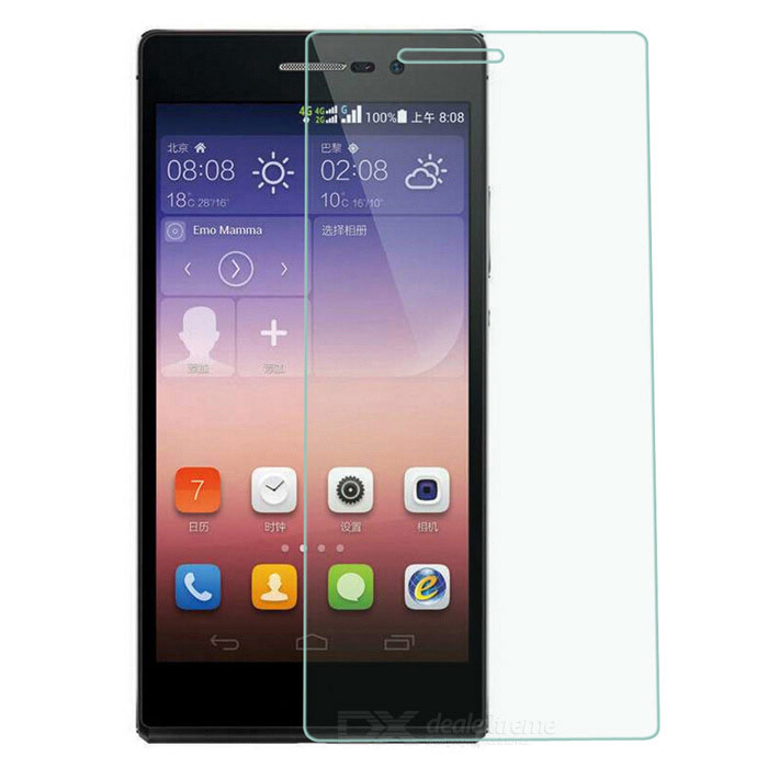 Protective Clear Tempered Glass Screen Protector for Huawei P7 - Transparent