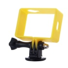 Professional Protective Border Frame Case w/ Mount + Screw for Xiaomi Xiaoyi Camera - Yellow + Black