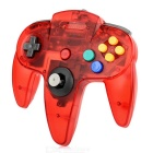 ABS Wired Game Console Controller for N64 - Translucent Red + Multicolor