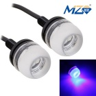 MZ 1.5W 18mm LED Car Daytime Running Light Blue 3-SMD 150lm (Pair)