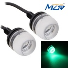 MZ 1.5W LED Car Daytime Running / Fog / Backup Light Green 577nm 150lm 3-SMD 5630 (12V / 2 PCS)