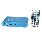 DTS / AC3 ​​5.1-Kanal-Audio Decoder w / USB Digital Sound / Media Player - Blau + Golden