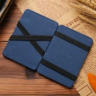 Casual Style PU Leather Money Card Wallet Purse - Black + Blue