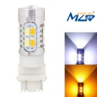 MZ T25 10W Car LED Brake / Steering / Daytime Running Light White + Yellow 5630-20SMD 700lm (12~24V)