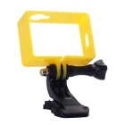 Protective Camera Frame Holder Case + J-Base Mount + Long Screw for Xiaomi Xiaoyi - Black + Yellow